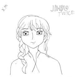 Jihyo TWICE fanart by Kokoro-Hane
