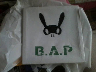 My friend cross-stitched this for me! (B.A.P logo) by Kokoro-Hane
