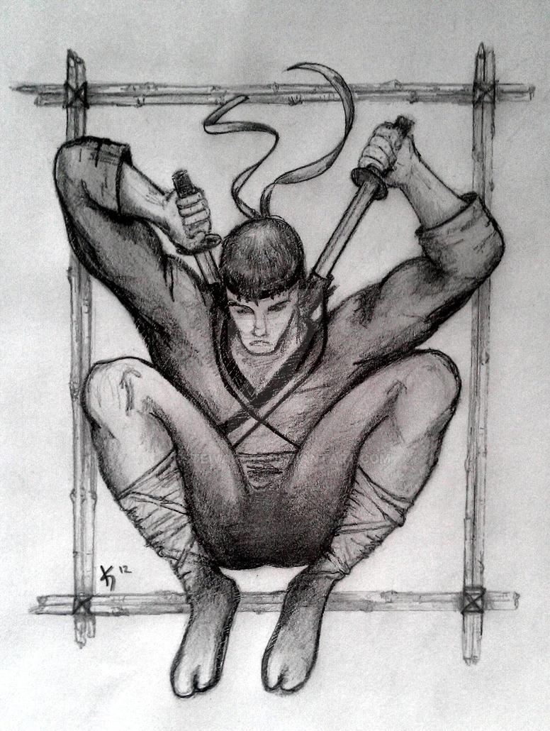 Ninja unmasked pencil sketch by kstewart86