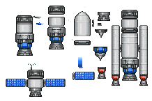 2d spaceship parts by Runouw