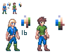 Male and Female NPC sprites. by Runouw