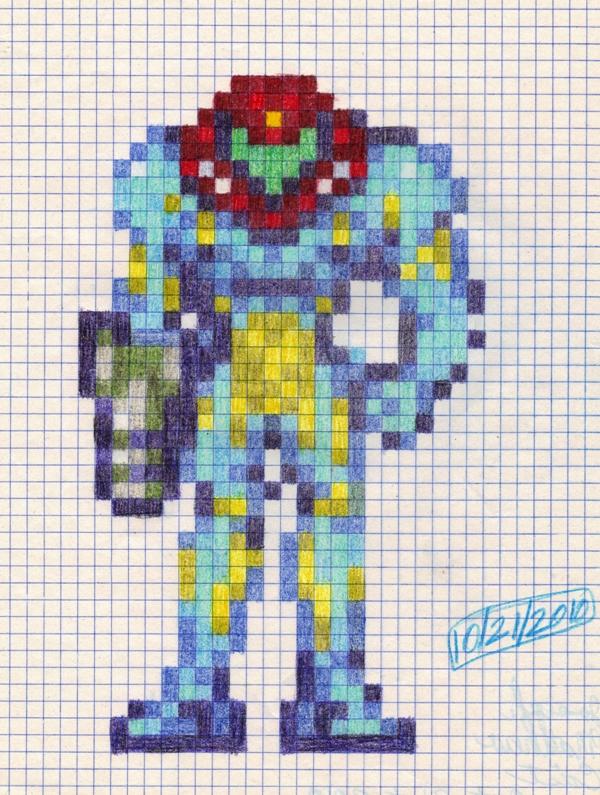 Fusion Suit Samus GP Sprite By Dragontamer272 On DeviantArt