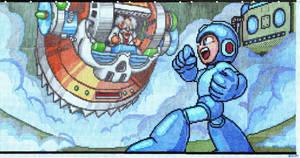 Mega Man vs. Dr.Wily graph paper screen by dragontamer272