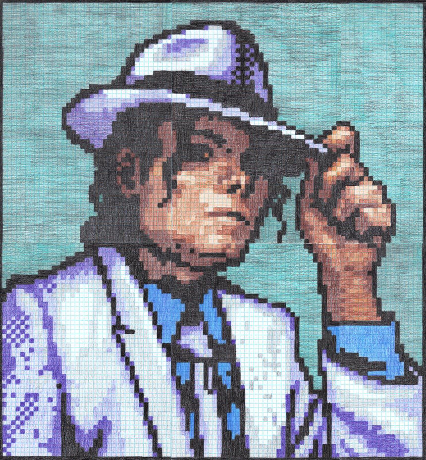 michael jackson graph paper tribute by dragontamer272 on