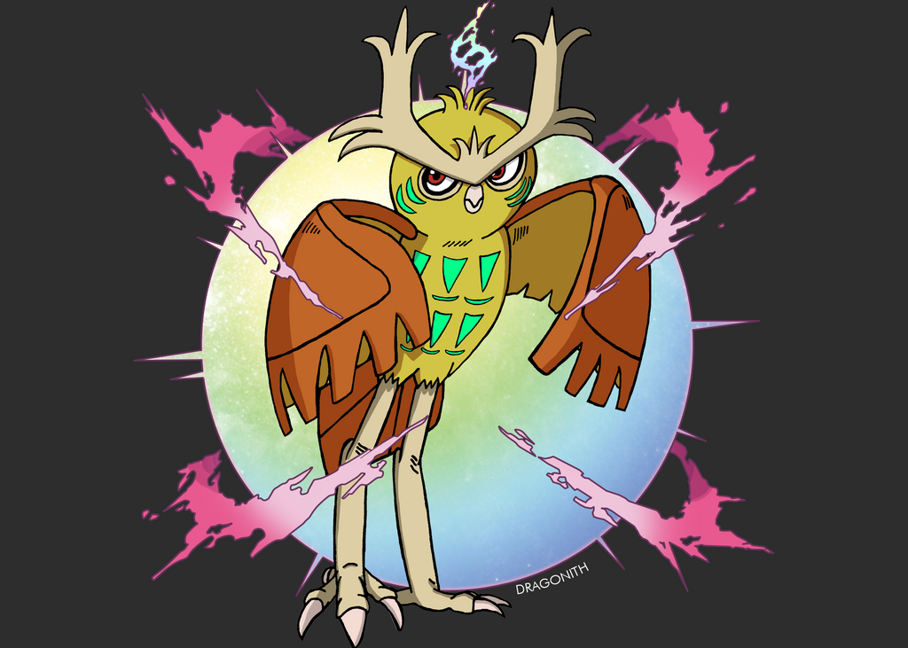 Shiny Fan Mega Noctowl by dragontamer272