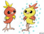 Torchic and Shiny Torchic - Happy Easter 2016