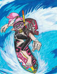 Splatoon Redraw - Diver Surfing by dragontamer272
