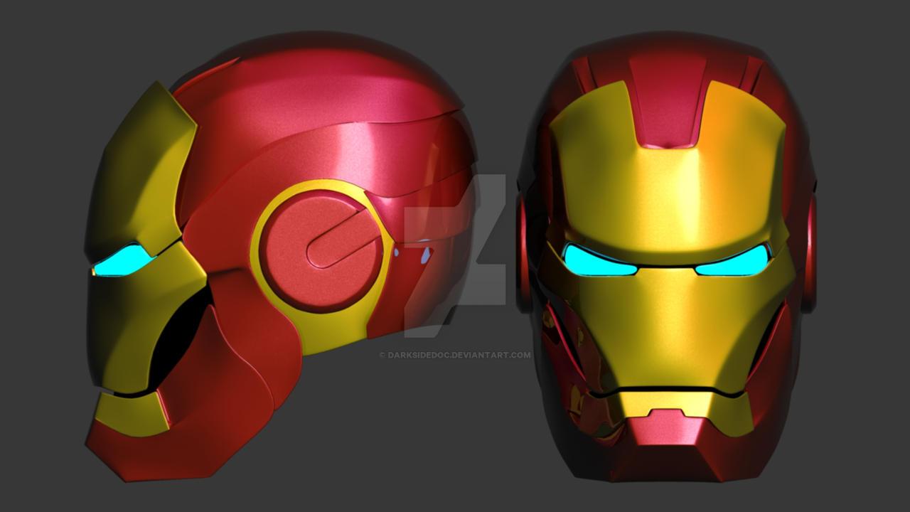 my attempt at iron man maskdarksidedoc on deviantart