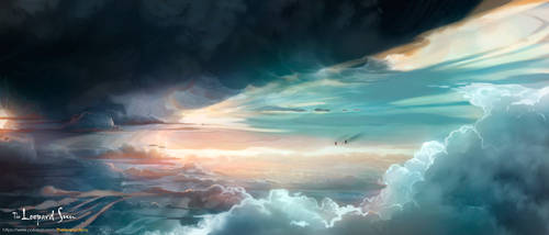 The Leopard Sun: The Sea and Sky