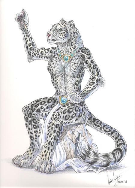 Anthro Snow Leopard Female Snow Leopard Anthro by Balaa