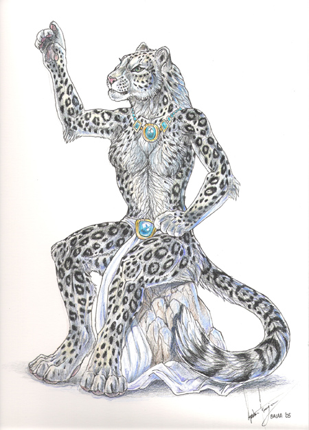Snow Leopard Anthro By Balaa On Deviantart