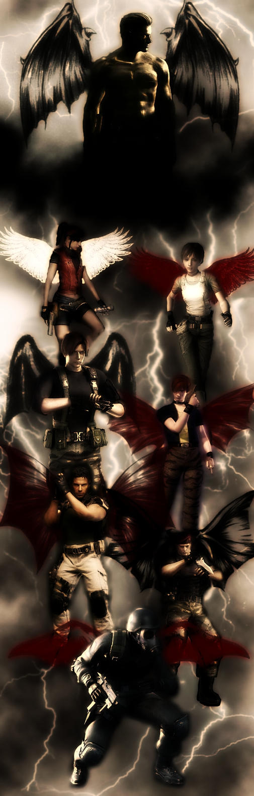 Wesker's Elites Background by IamRinoaHeartilly