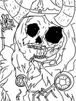 The Lich (Uncolored) by namichee
