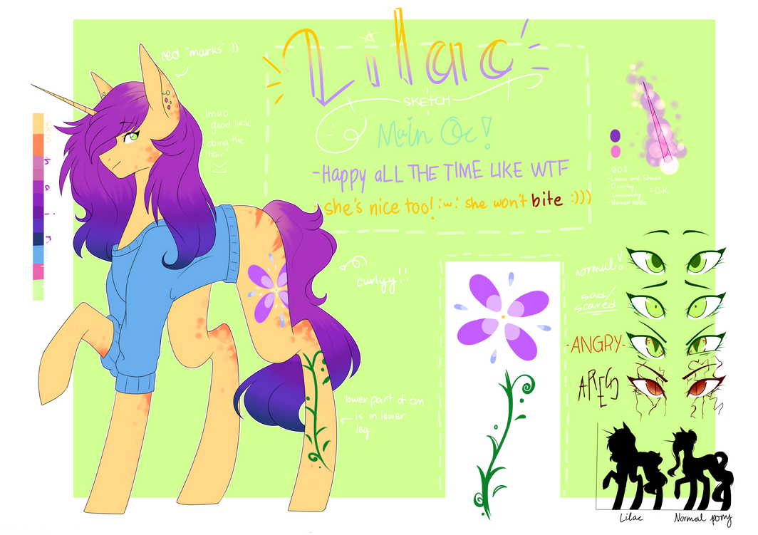 .ref sheet. Lilac Sketch 2018 by namichee