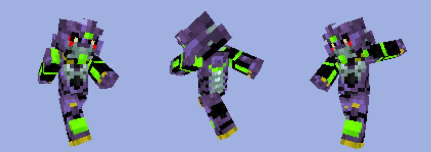 Minecraft skin: Evangelion by tarukatheultimate