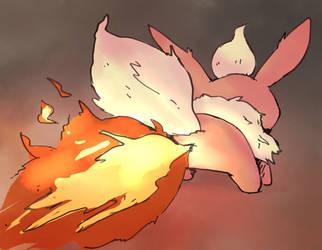flareon use flamethrower by boke-0327