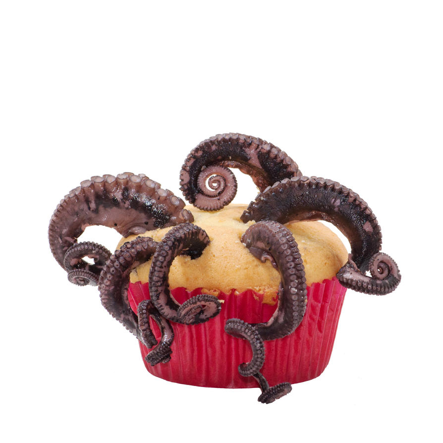 OCTOPUS CUPCAKE by Mjag