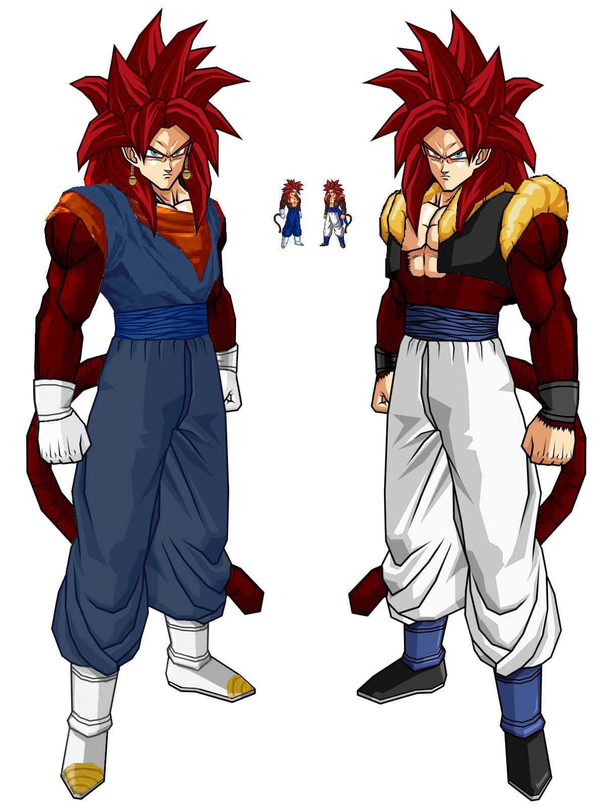 Gogeta SSJ4 - Goku SSJ4 Pose by SpongeBossGoku And Gohan Fusion Ssj4
