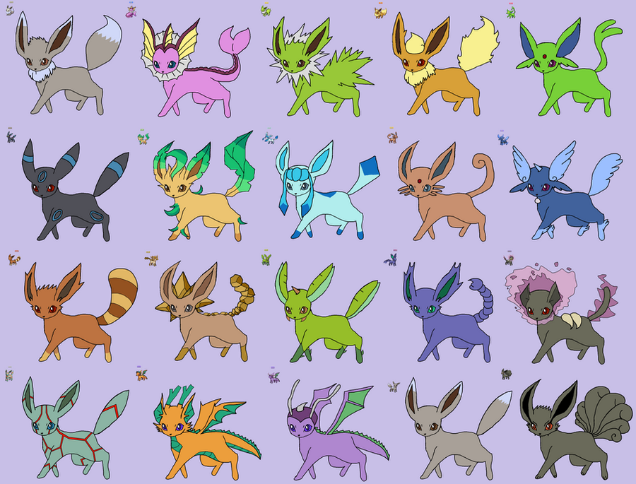 Pokemon Shiny Eevee Evolutions Images | Pokemon Images