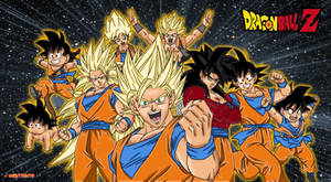 goku all form coloring