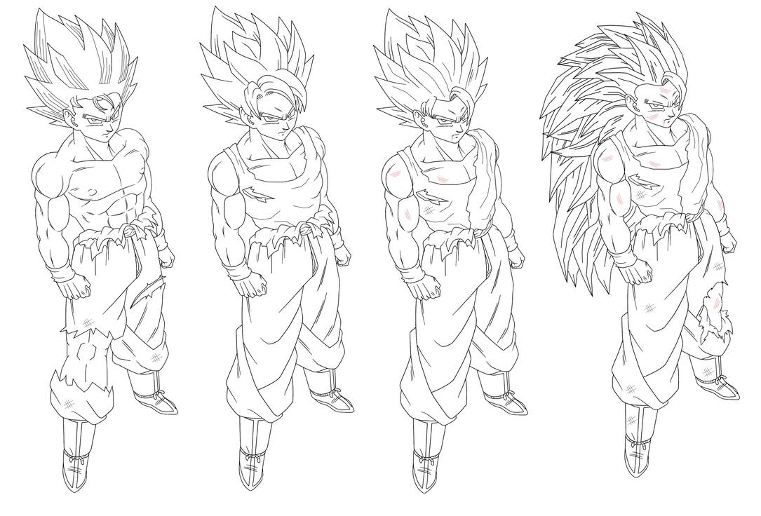 Dbz Goku Ssj4 Drawing Dbz Goku Ssj4 Coloring
