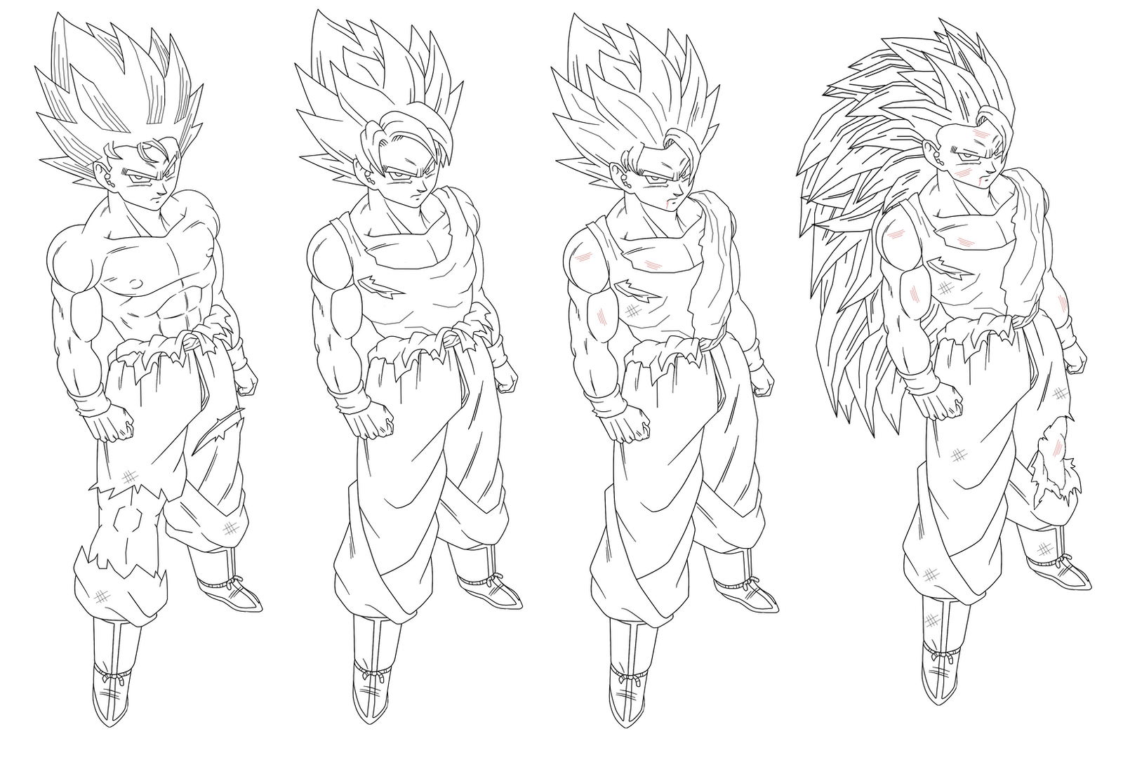 Ssj4 Gogeta Coloring Pages: Super Saiyan 4 Gogeta Coloring Coloring Pages