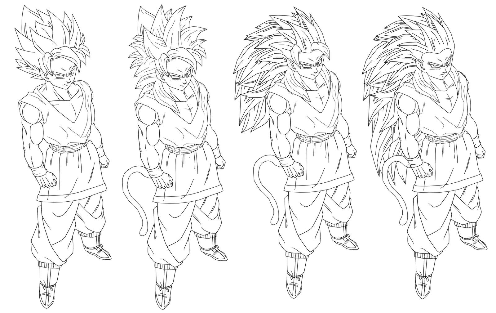 Majin Vegeta Vs Ssj2 Goku Lineart By Brusselthesaiyan On: Lineart-all Goku Ssj Part 2 By Naruttebayo67 On DeviantArt