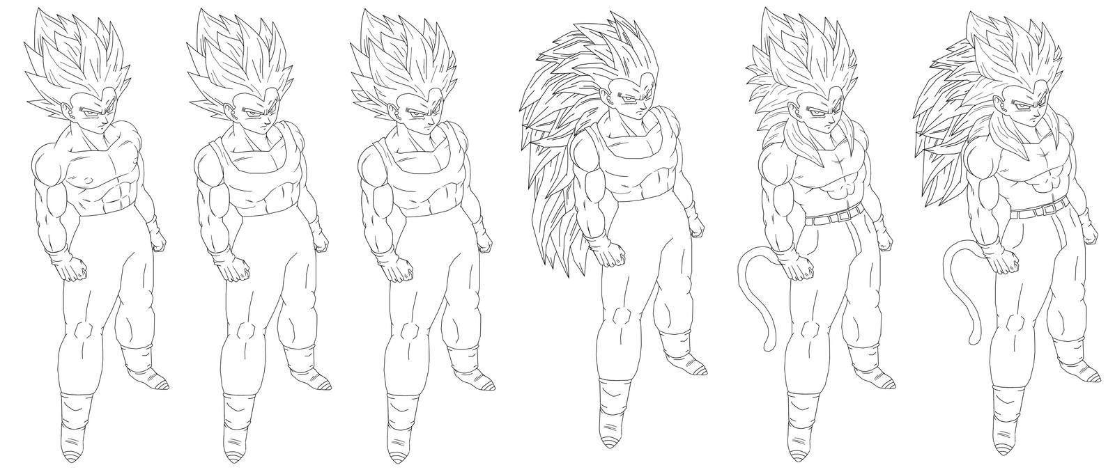 how to draw dbz goku ssj5