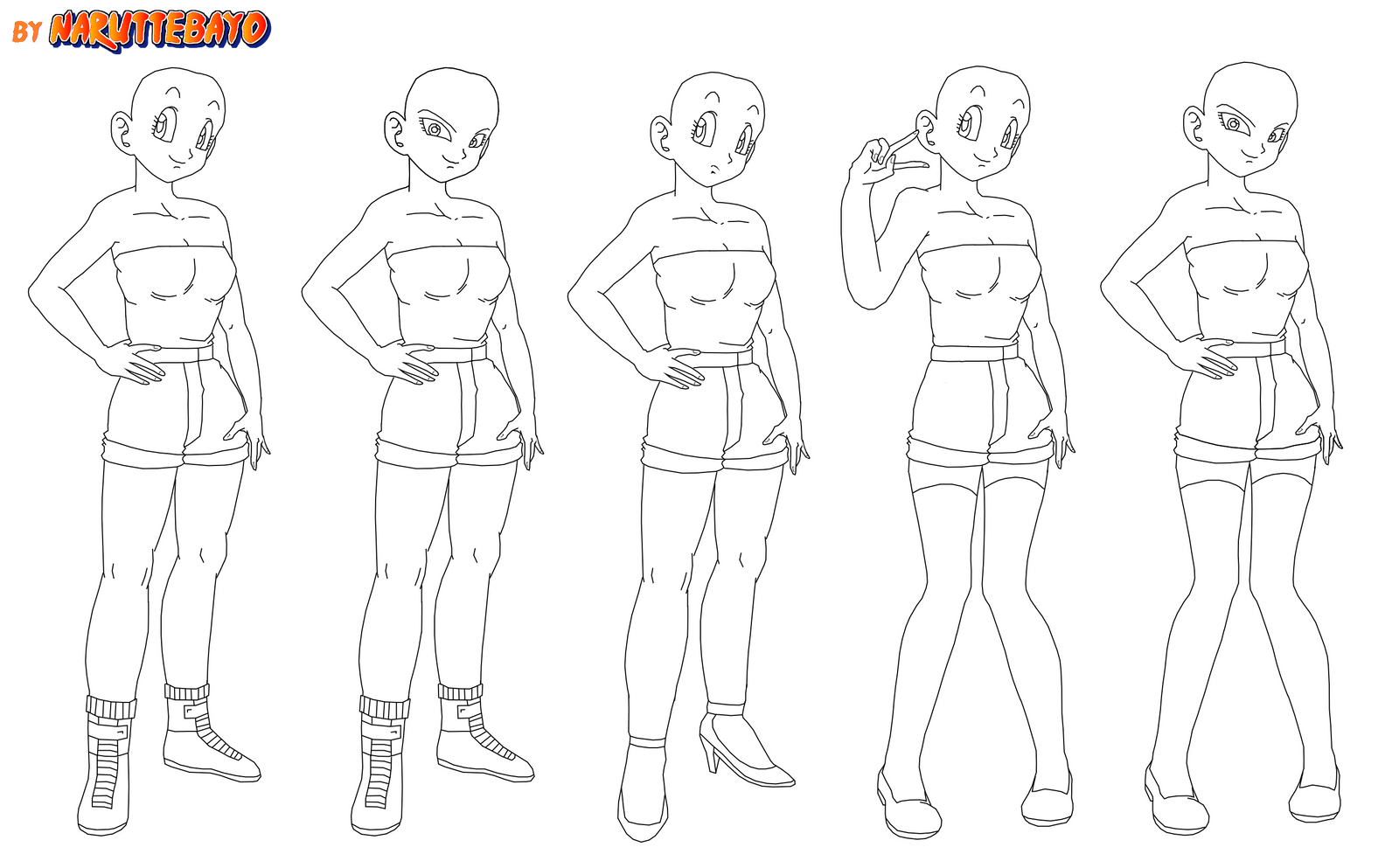 how to draw female body anime style