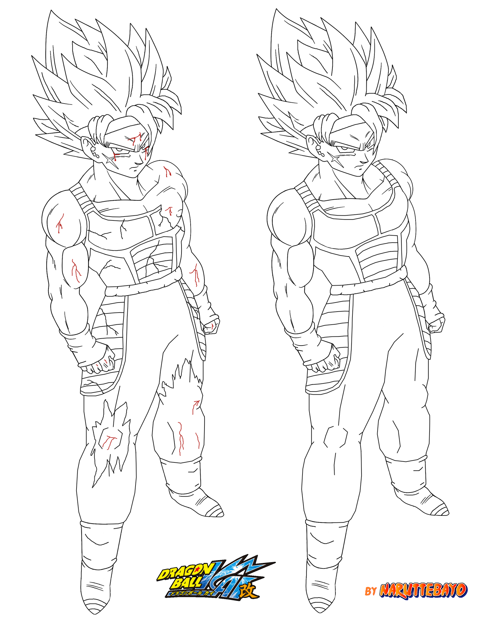 Mobile/bardock Drawing Coloring Pages