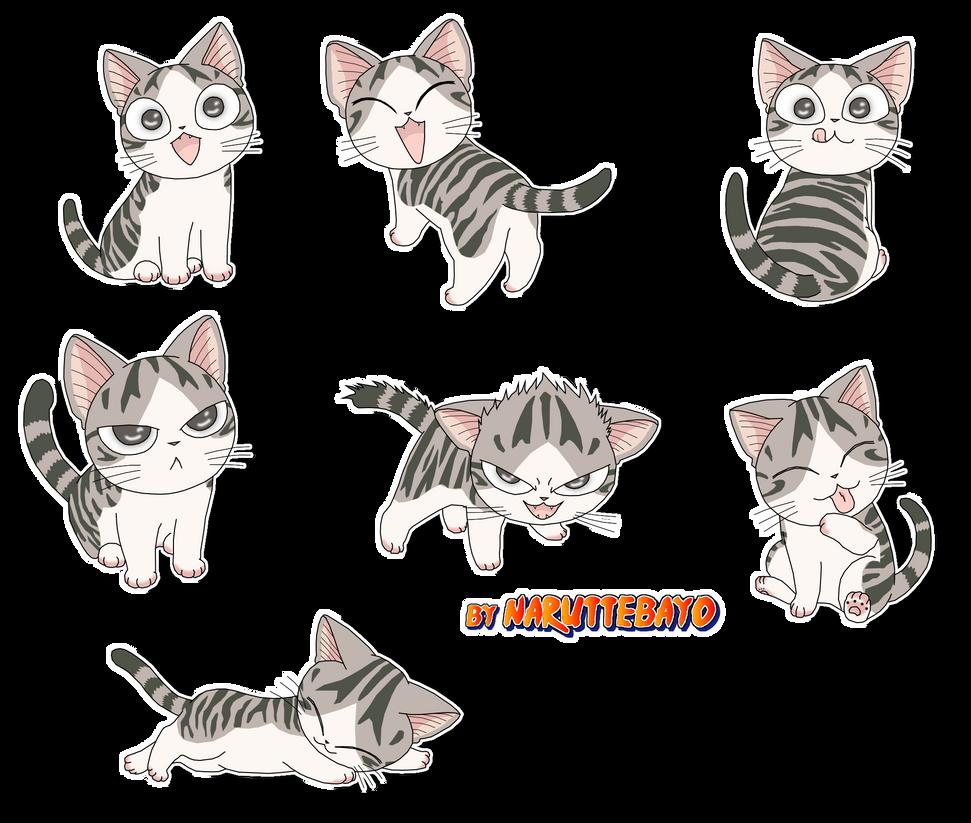 Extrêmement coloring Guimauve my cat manga style rayure v1 by Naruttebayo67 on  SM62