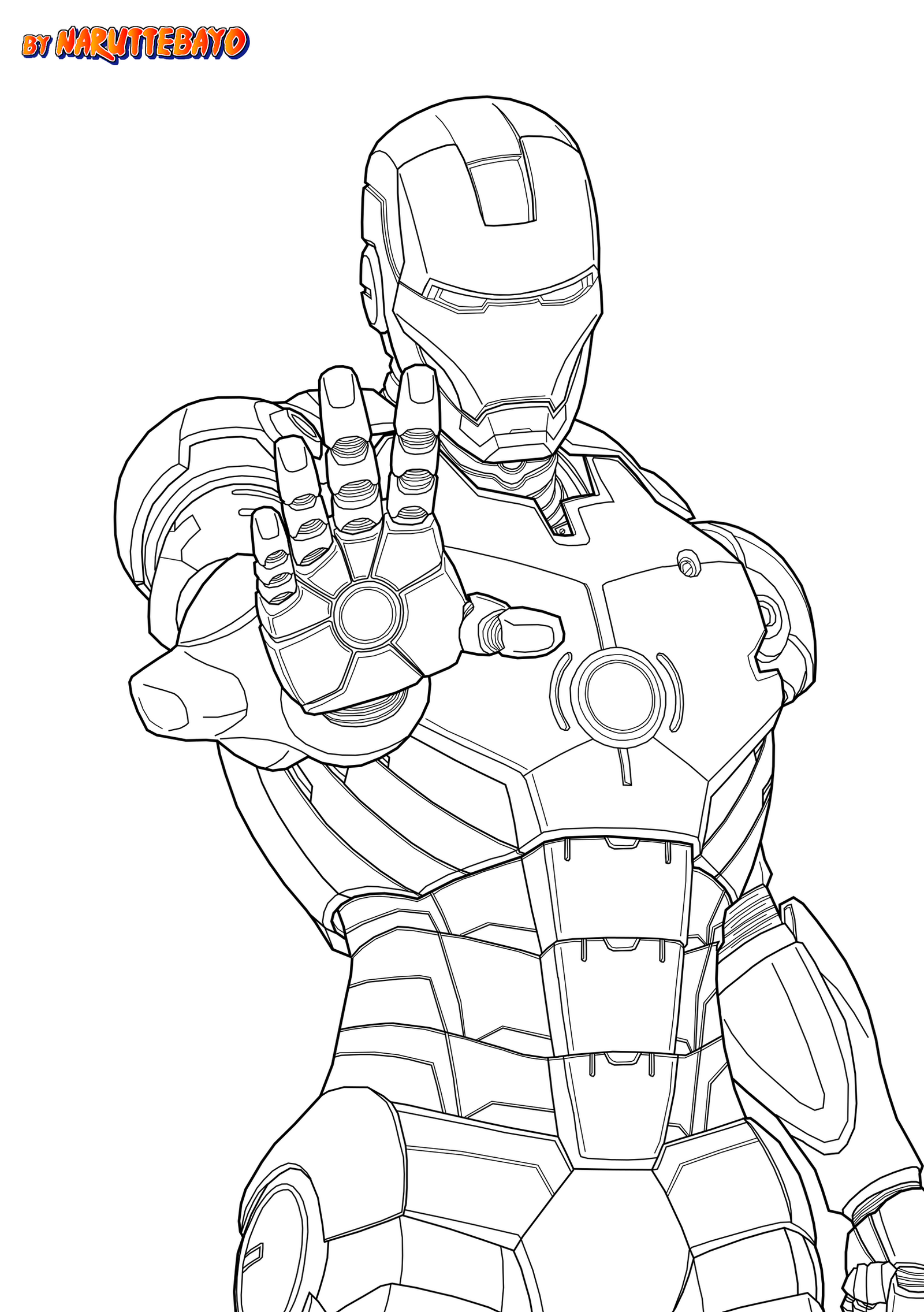 Line Art Marvel : Ironman marvel japanime lineart noir by naruttebayo on