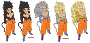 coloring-goku true-ssj4 evolution