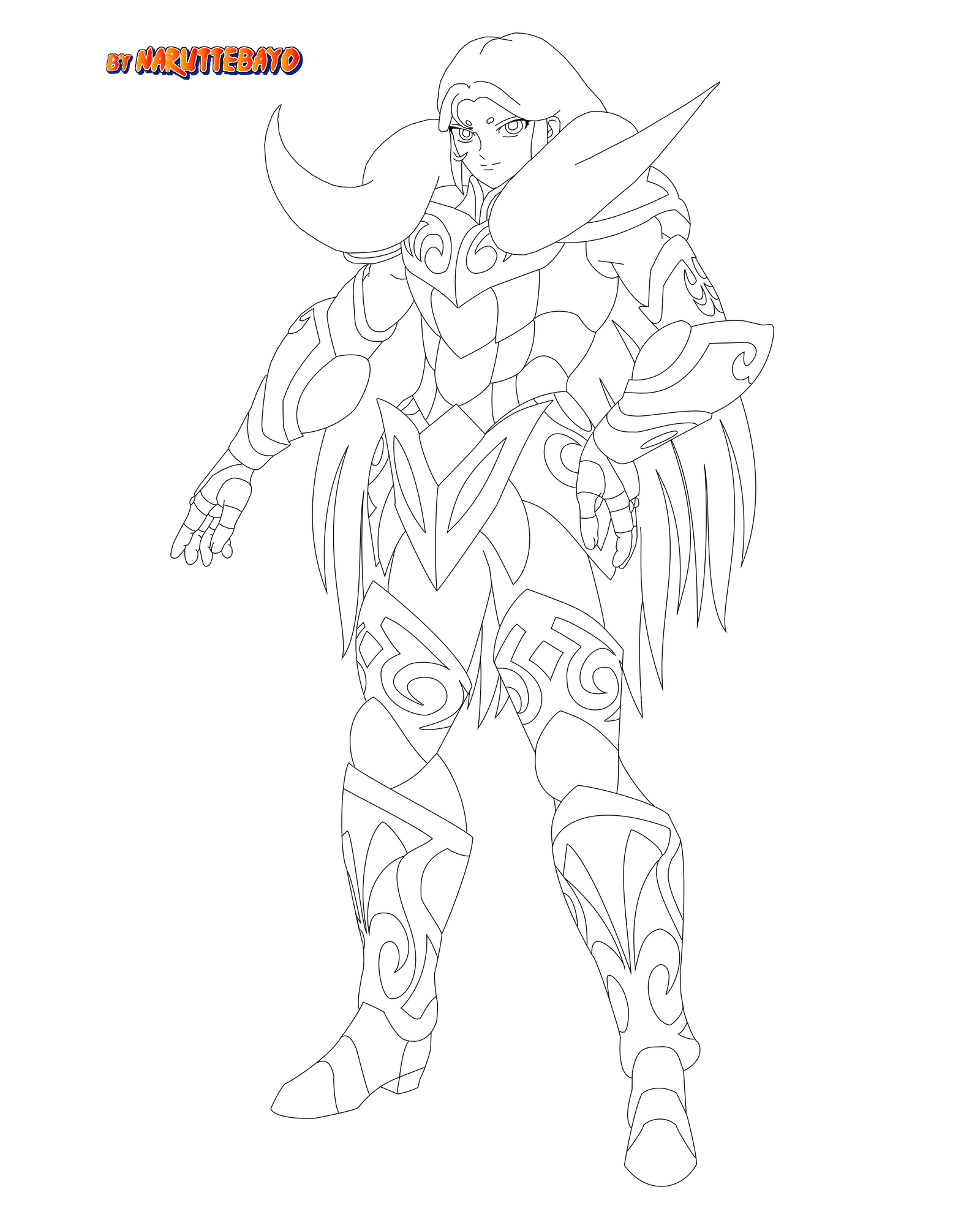 gold aries no lineart by Naruttebayo67 on deviantART