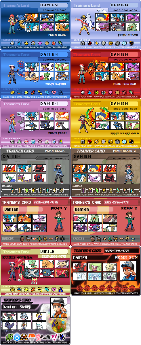 All Pokemon Game Trainer Card By Naruttebayo67 On Deviantart