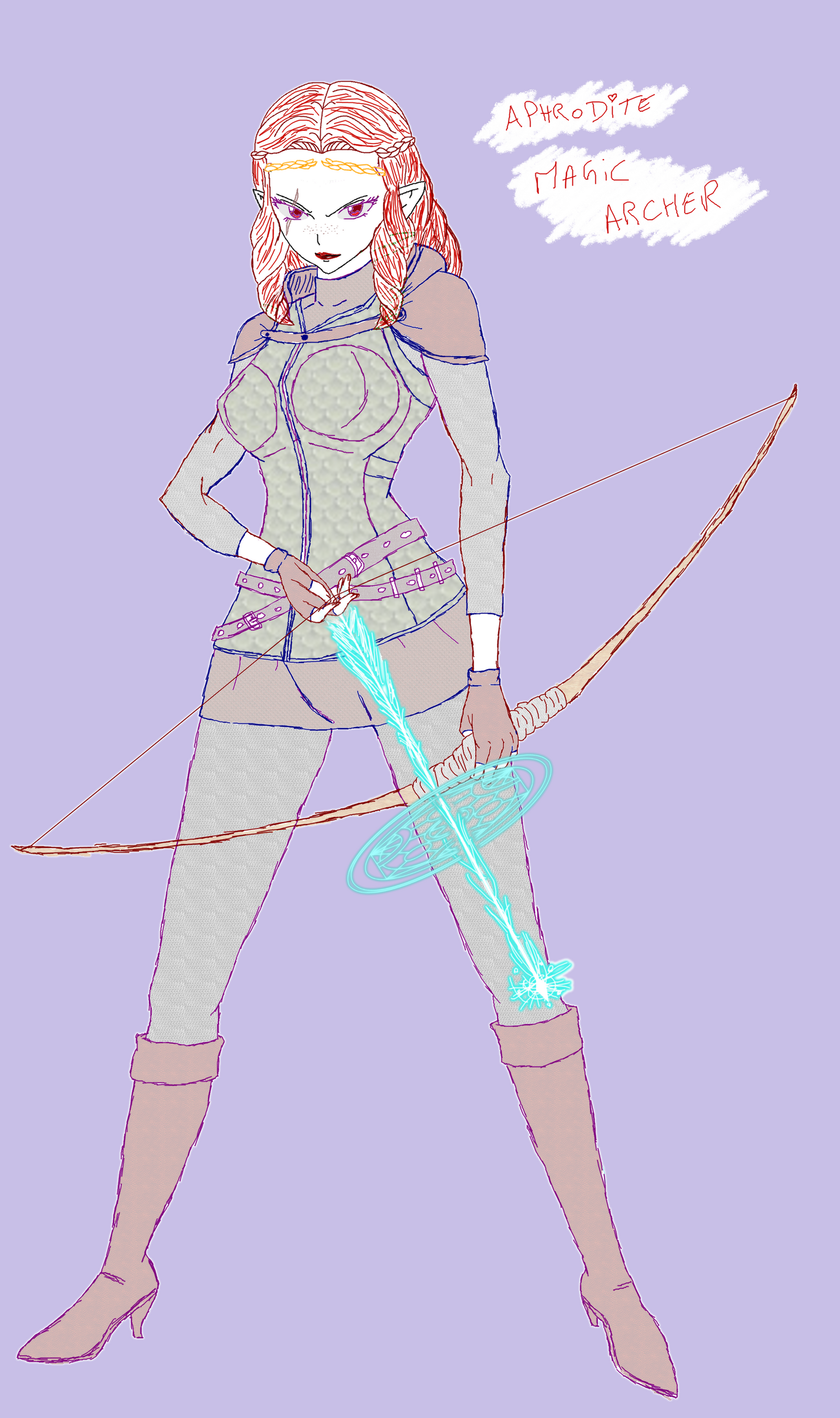 [sketch] Aphrodite Dragon's Dogma - Magic-archer by Naruttebayo67