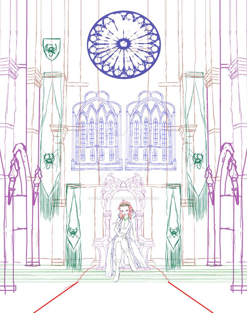 Sketch aphrodite souveraine throne by Naruttebayo67 on ...