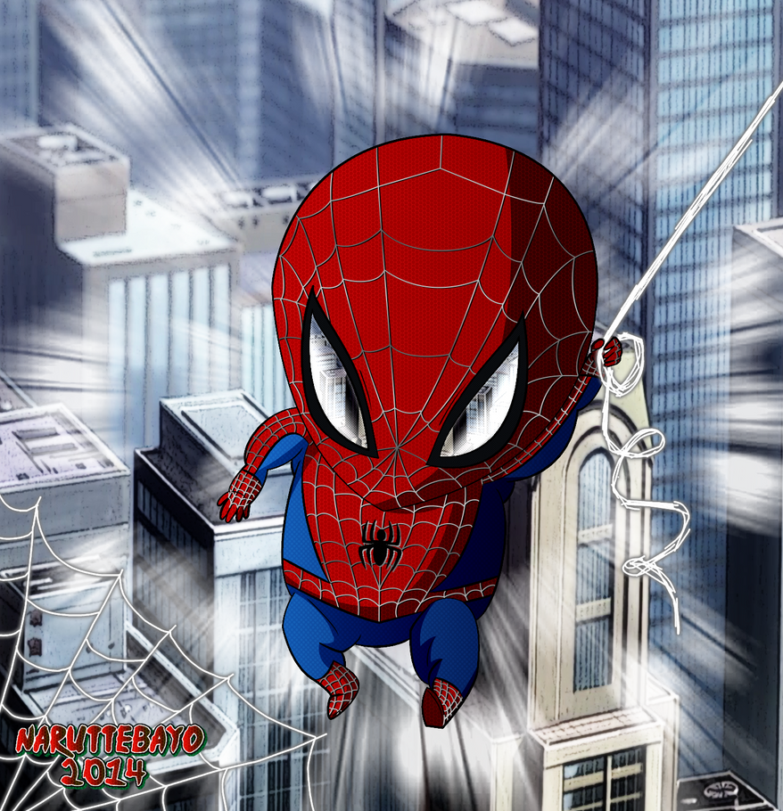 [colo] Chibi Spiderman by Naruttebayo67