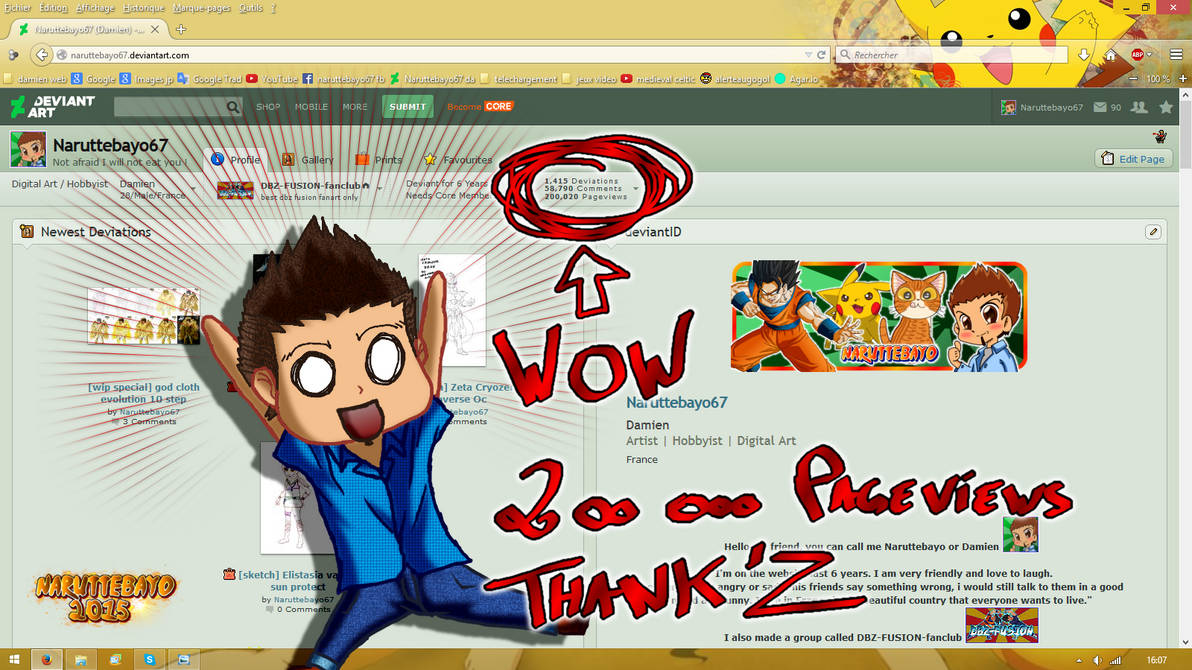 Screen For My 200 000 Pageview Wow