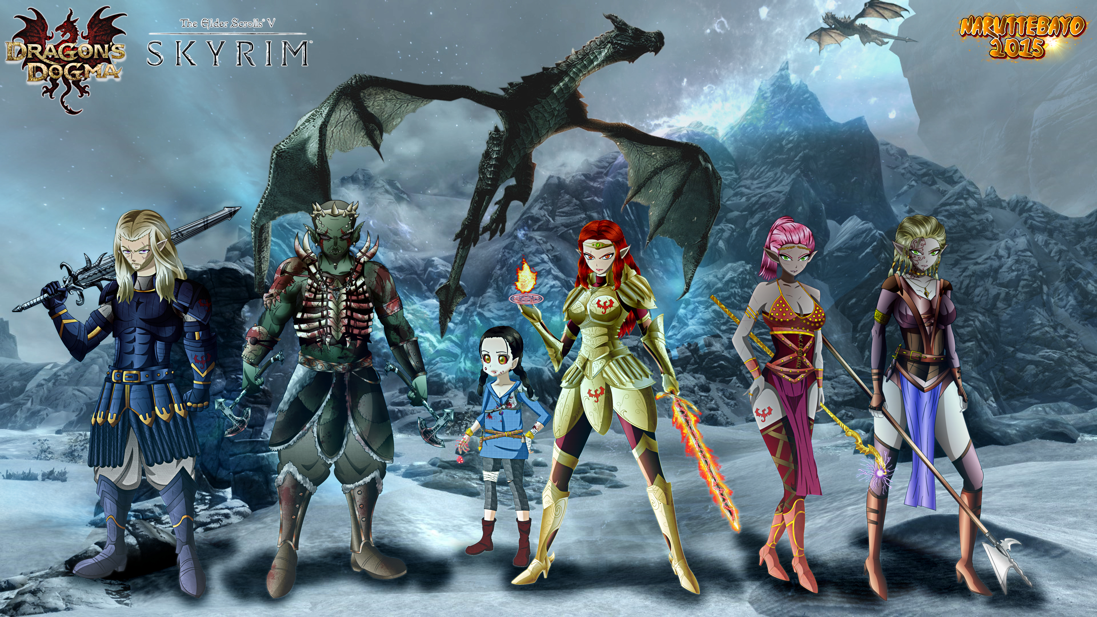 Oc Rpg Dragons Dogma X Skyrim Wallpaper By Naruttebayo67 On