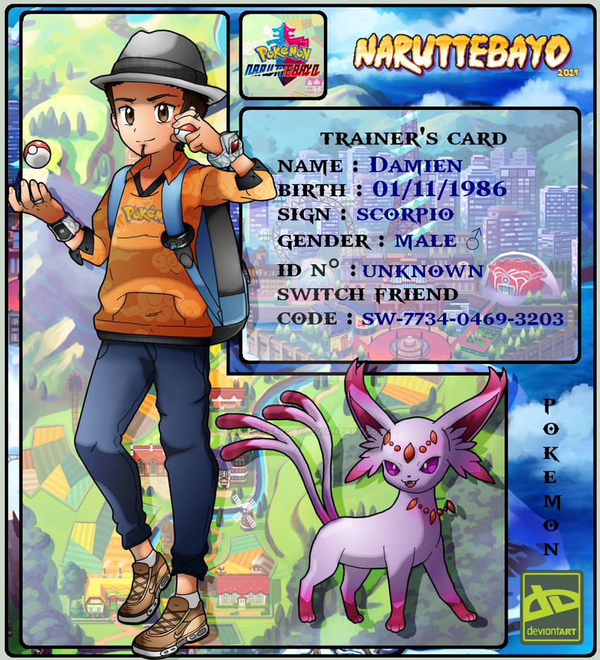 Deviantart Pokemon Trainer Id Card Final 2019