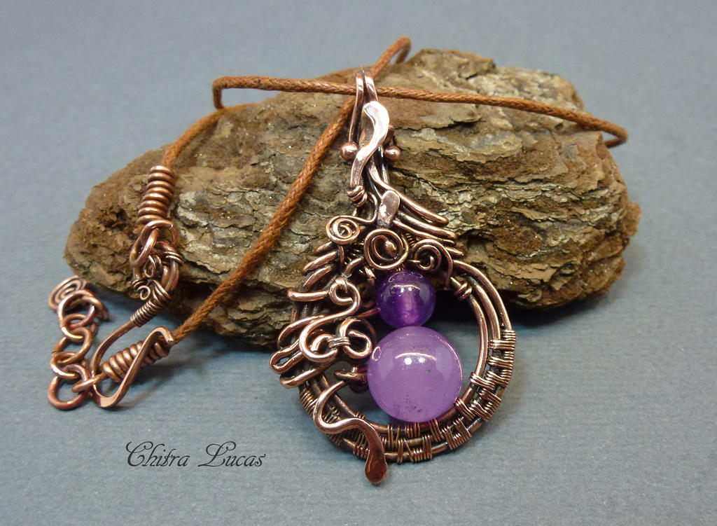 Wire wrapped woven copper pendant by chitra lucas on deviantart wire wrapped woven copper pendant by chitra lucas aloadofball Images