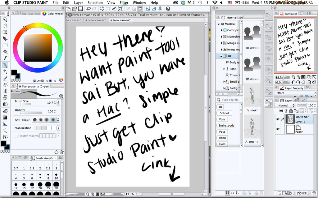 Clip Studio Paint Brushes Like Paint Tool Sai