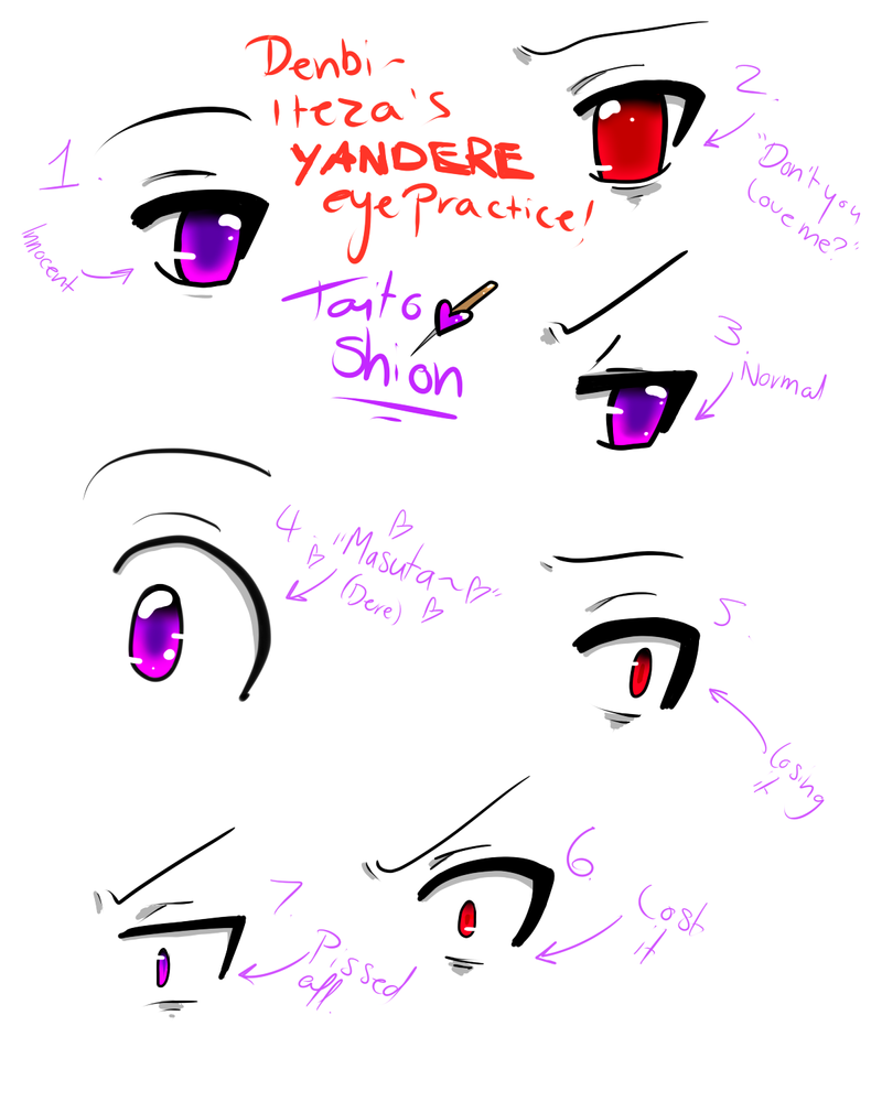 Yandere eyes aracade ccuart Image collections