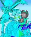 evolution of bluedesert tanemon evolution