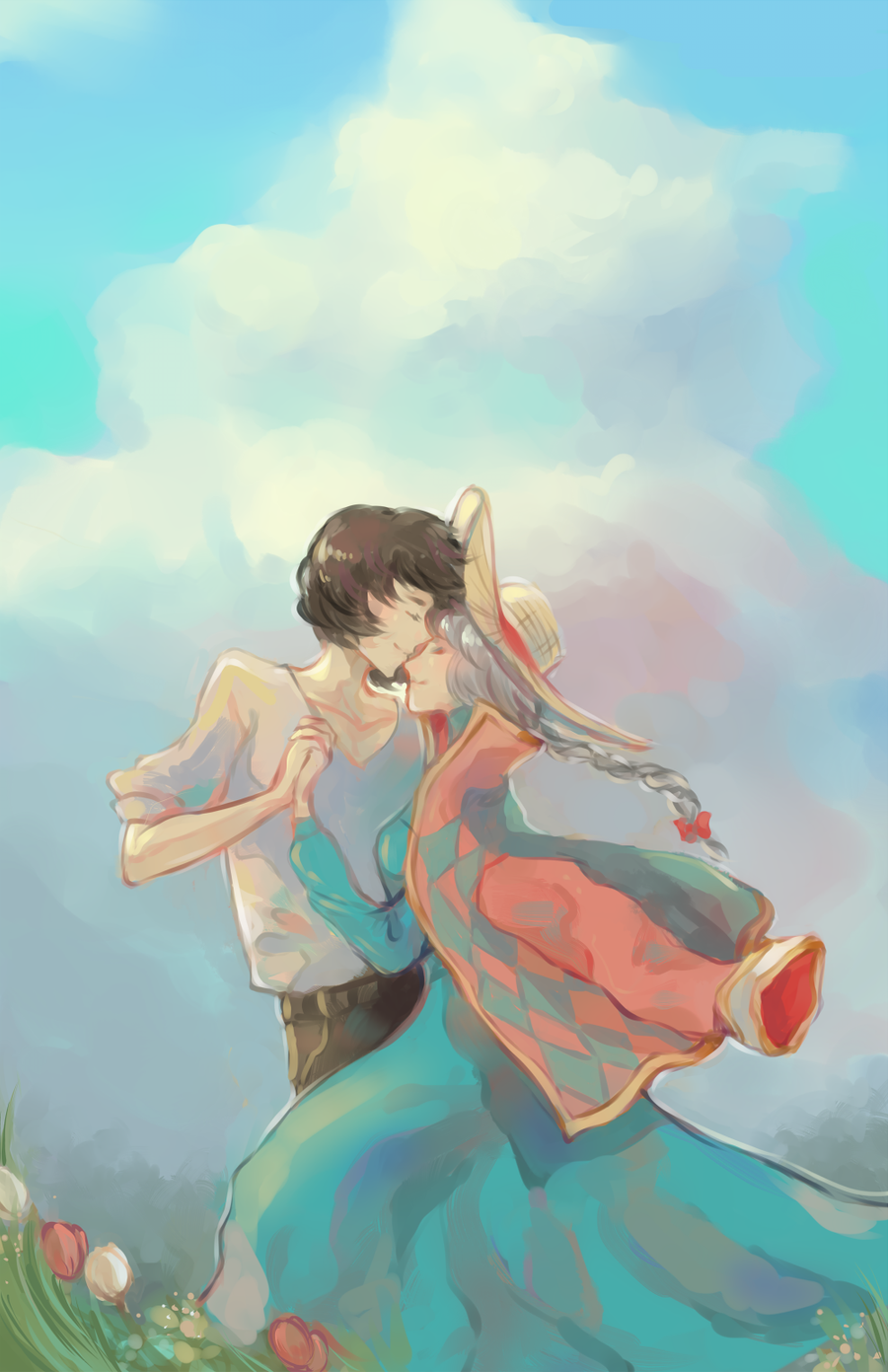 howl and sophie by chocuu on DeviantArt