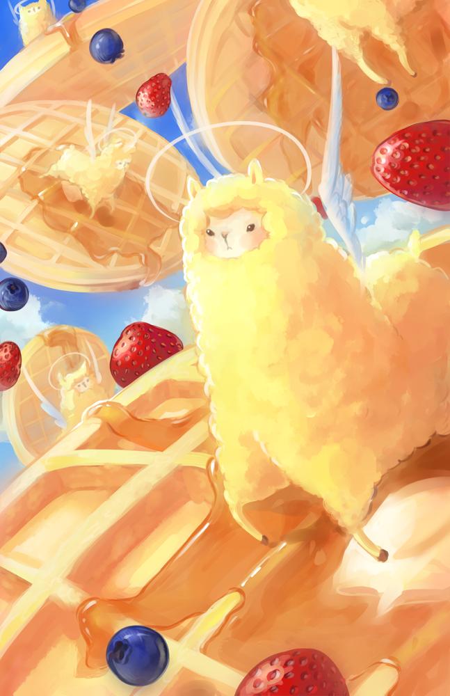 waffles + alpacas + sparkles by chocuu