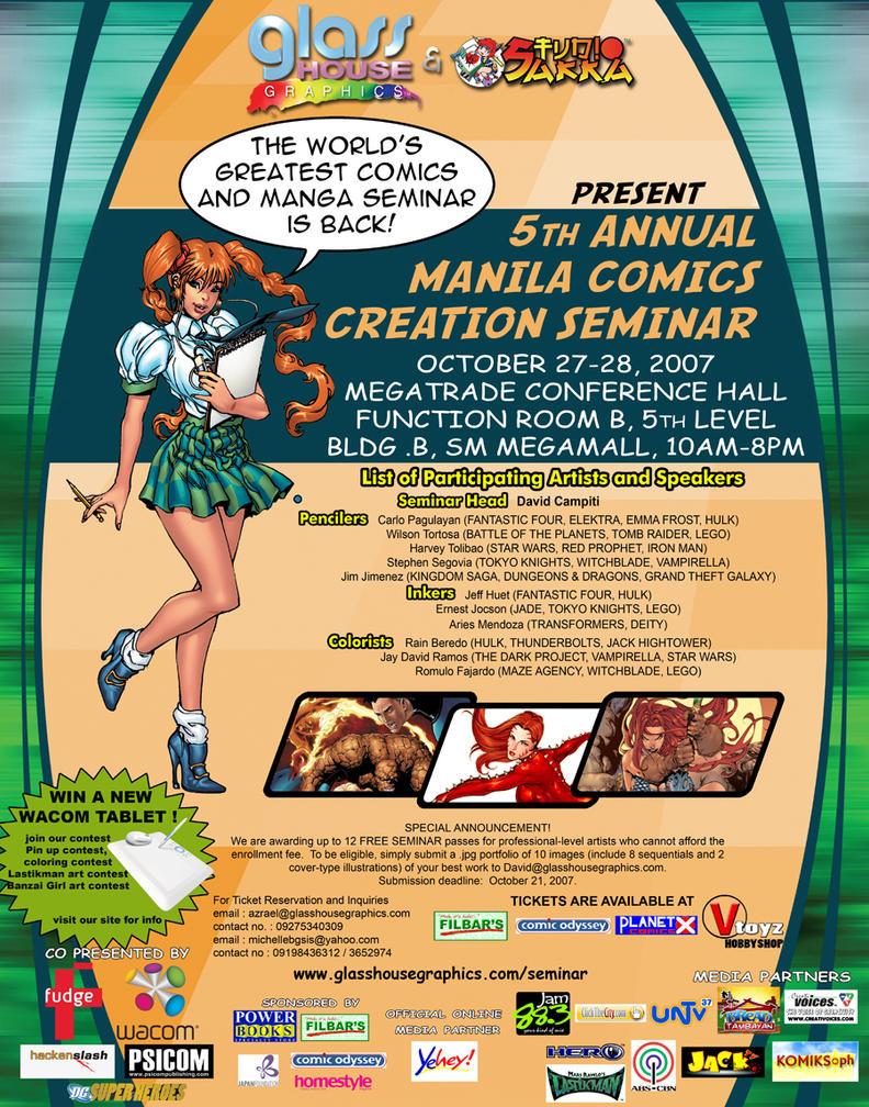 5th Manila Comics Seminar by ArtistsDen
