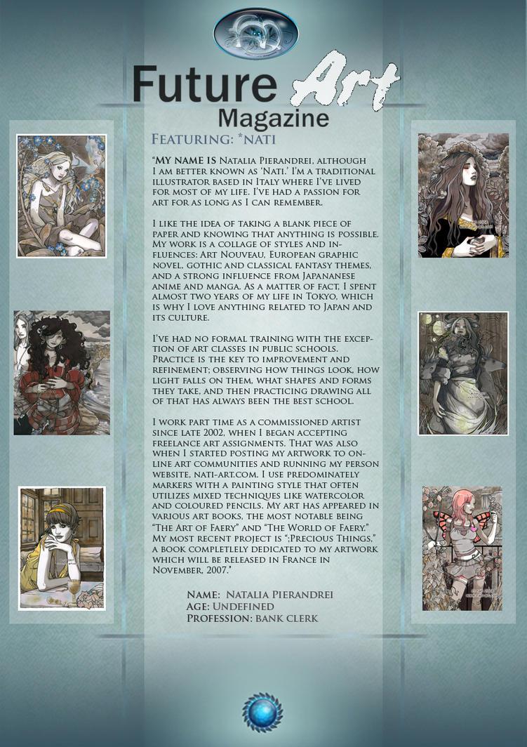 Featured Artist: Nati by Future-Art-Magazine