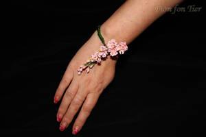 Sakura flower bracelet by fion-fon-tier